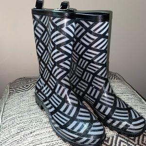 Sparkly rain boots
